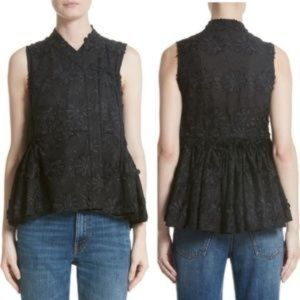 CO Los Angeles hanbok top floral sleeveless